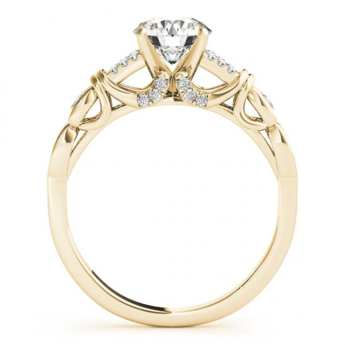 0.95 CTW Certified VS/SI Diamond Solitaire Ring 14K - 2