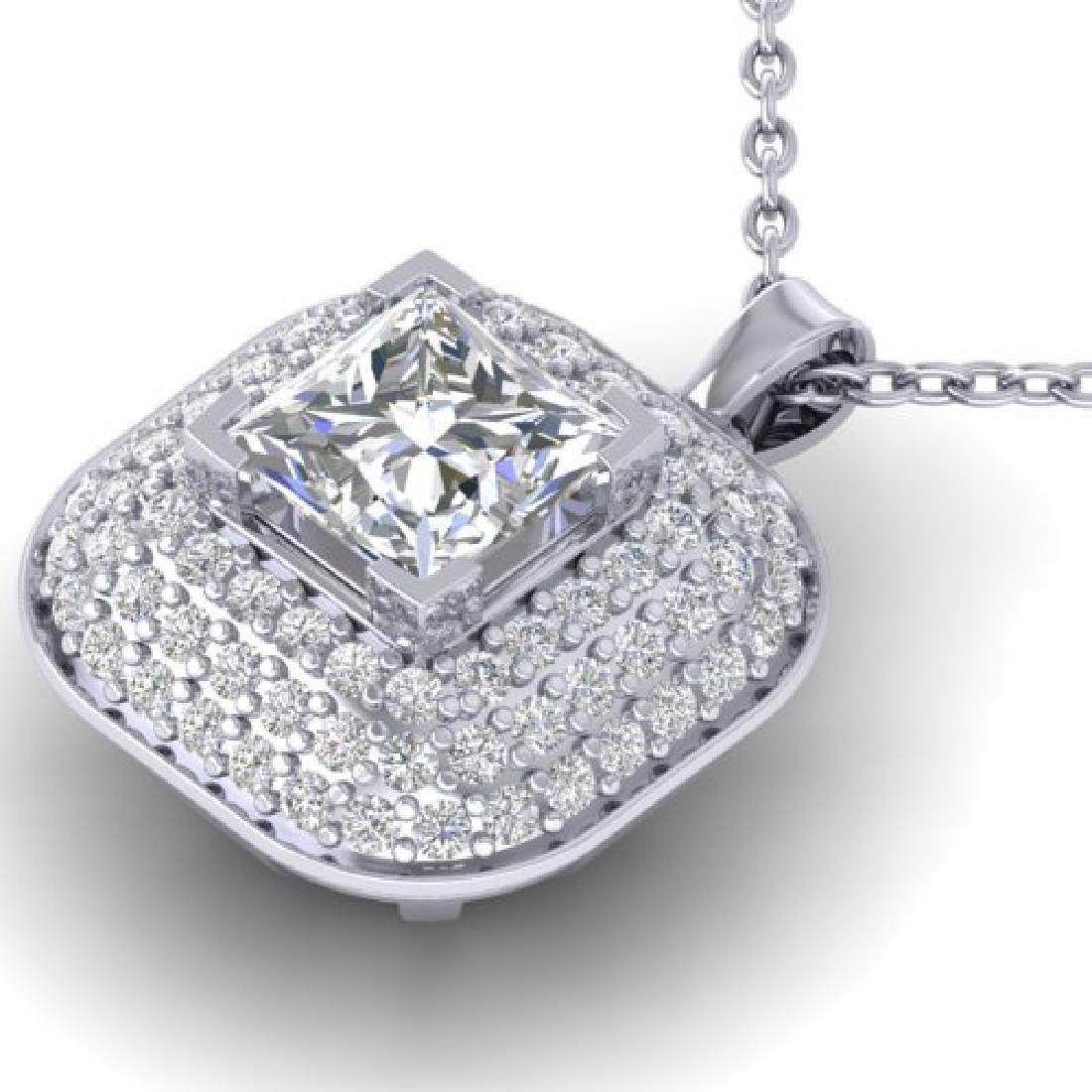 1.60 CTW Princess VS/SI Diamond Art Deco Stud Micro - 2