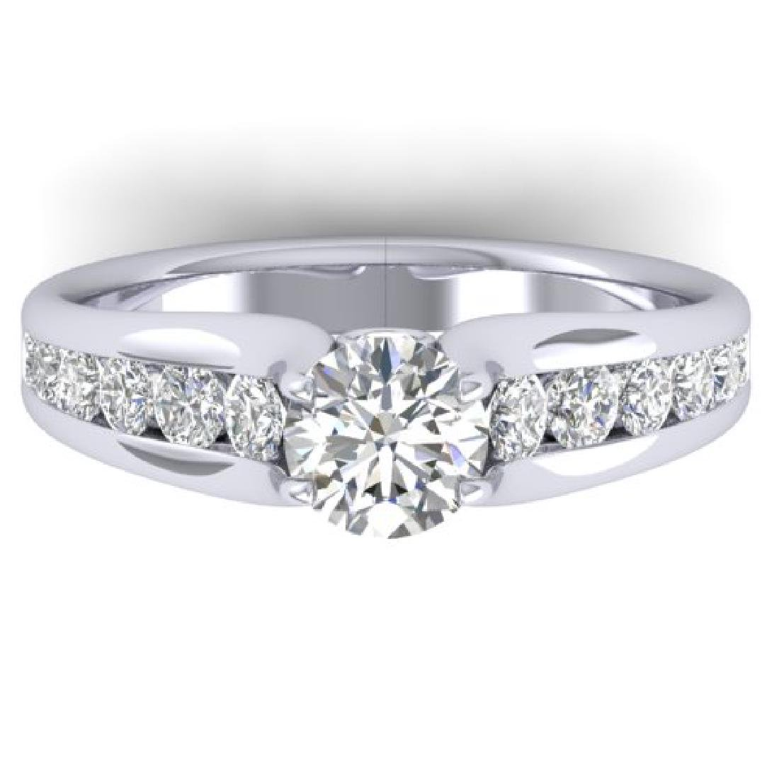 1.37 CTW Certified VS/SI Diamond Solitaire Ring 18K