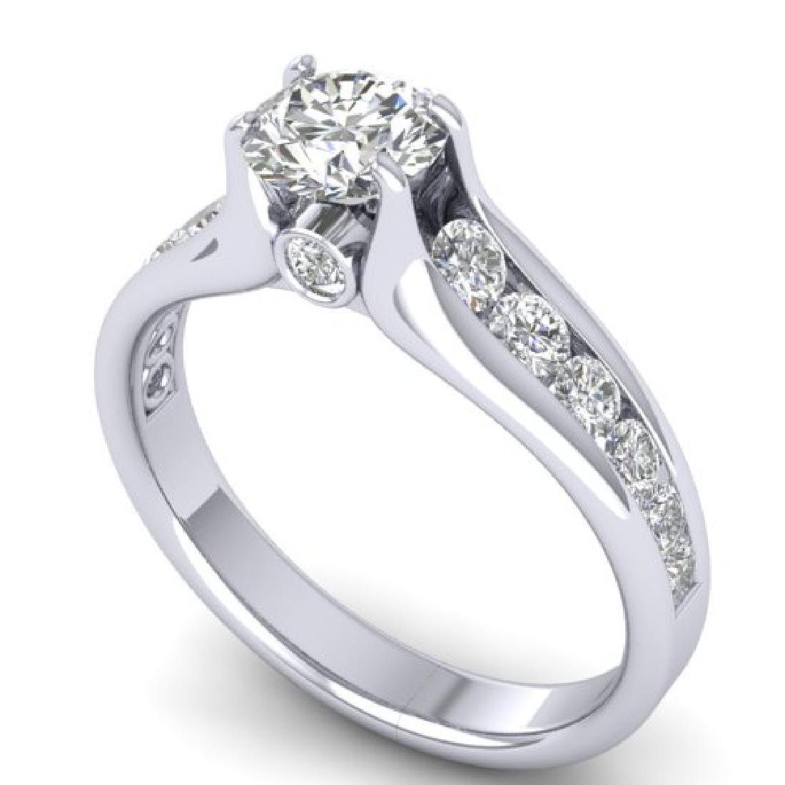 1.37 CTW Certified VS/SI Diamond Solitaire Ring 18K - 2