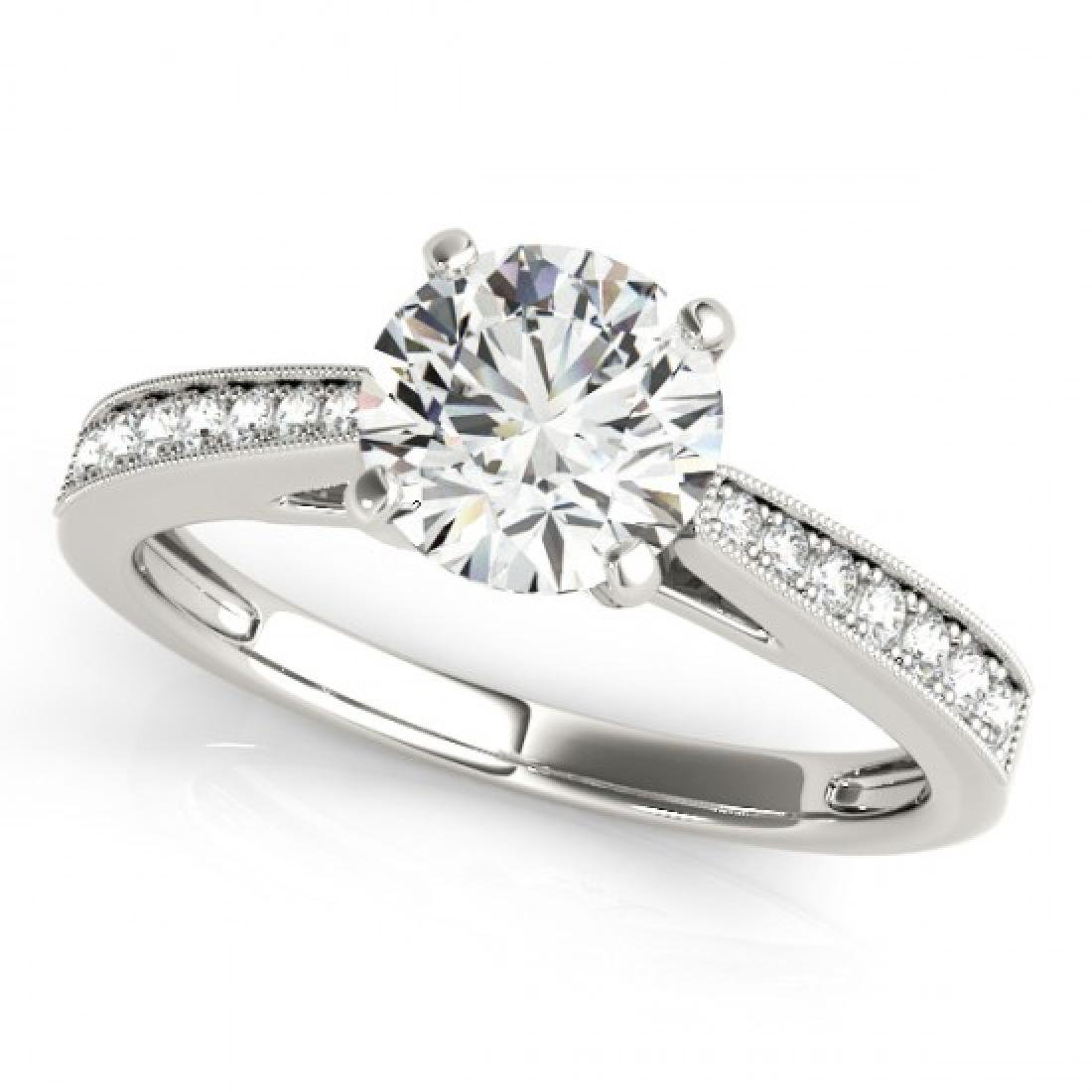 1 CTW Certified VS/SI Diamond Solitaire Ring 14K White