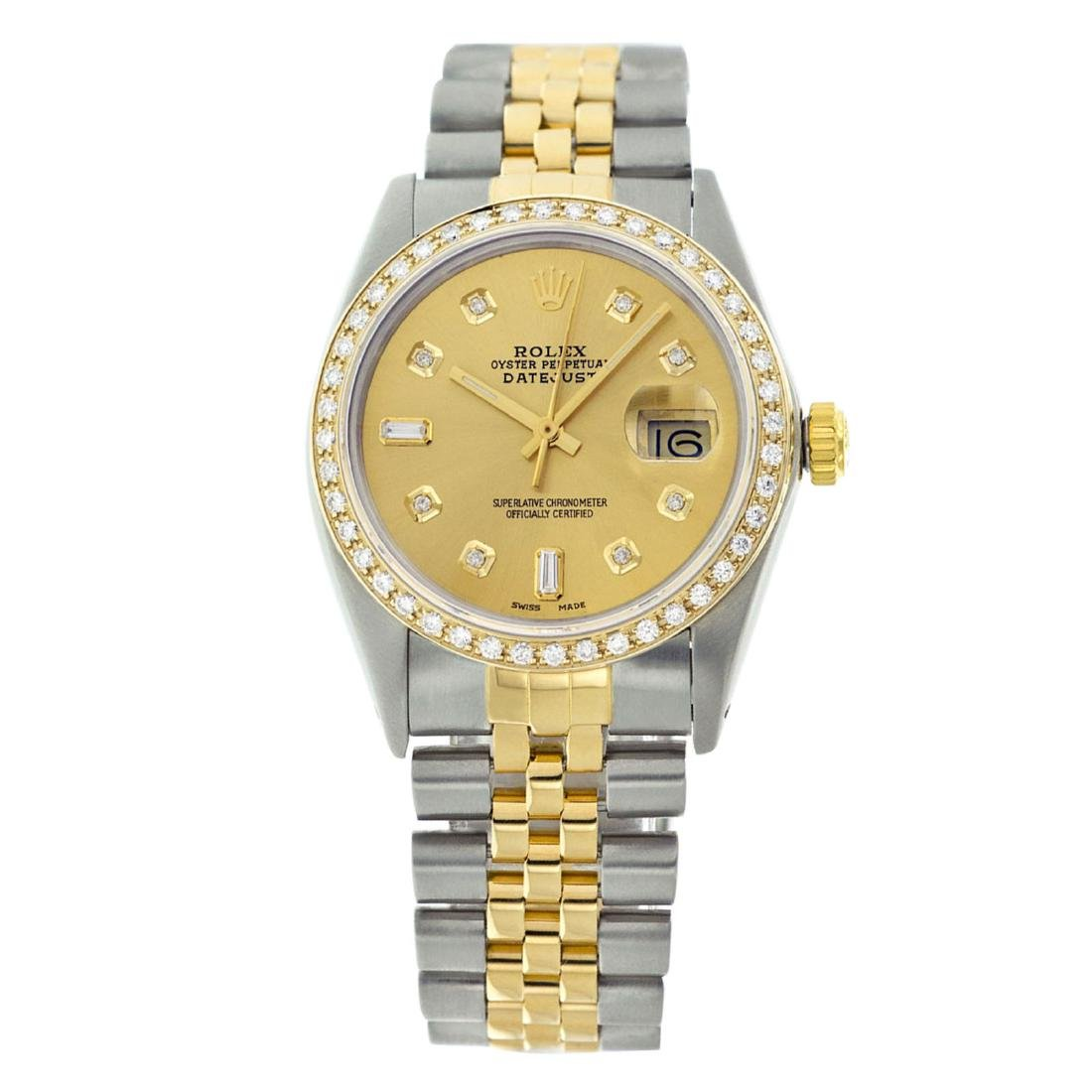 Rolex Men's Two Tone 14K Gold/SS , QuickSet, Diamond - 2