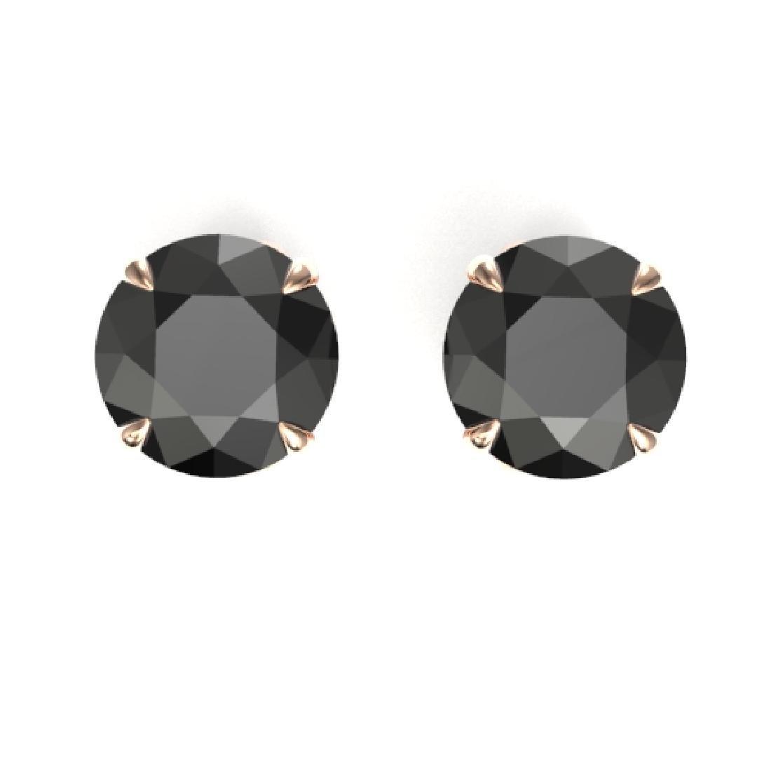4 CTW Black VS/SI Diamond Designer Inspired Stud