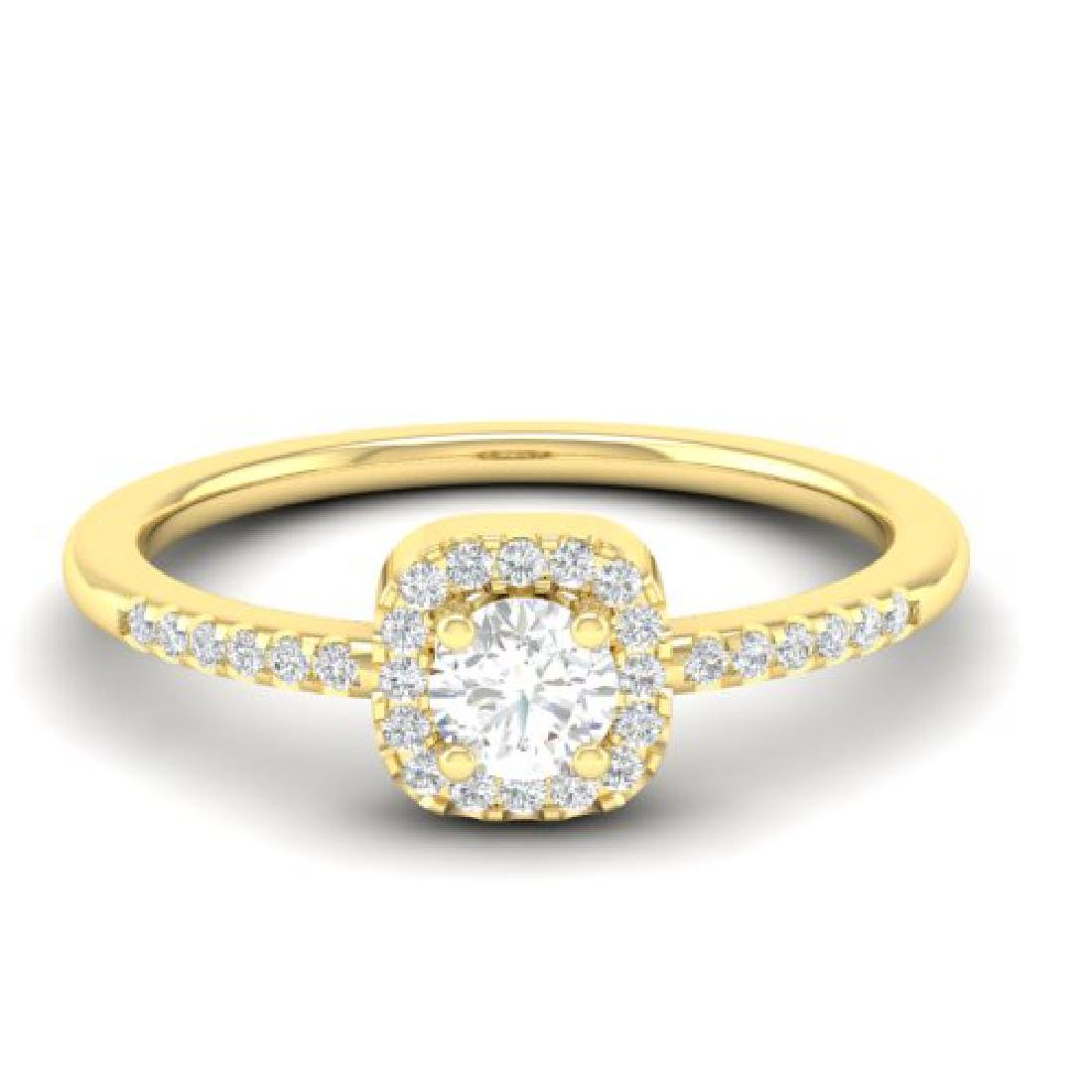 0.45 CTW Micro Pave VS/SI Diamond Ring Designer Halo