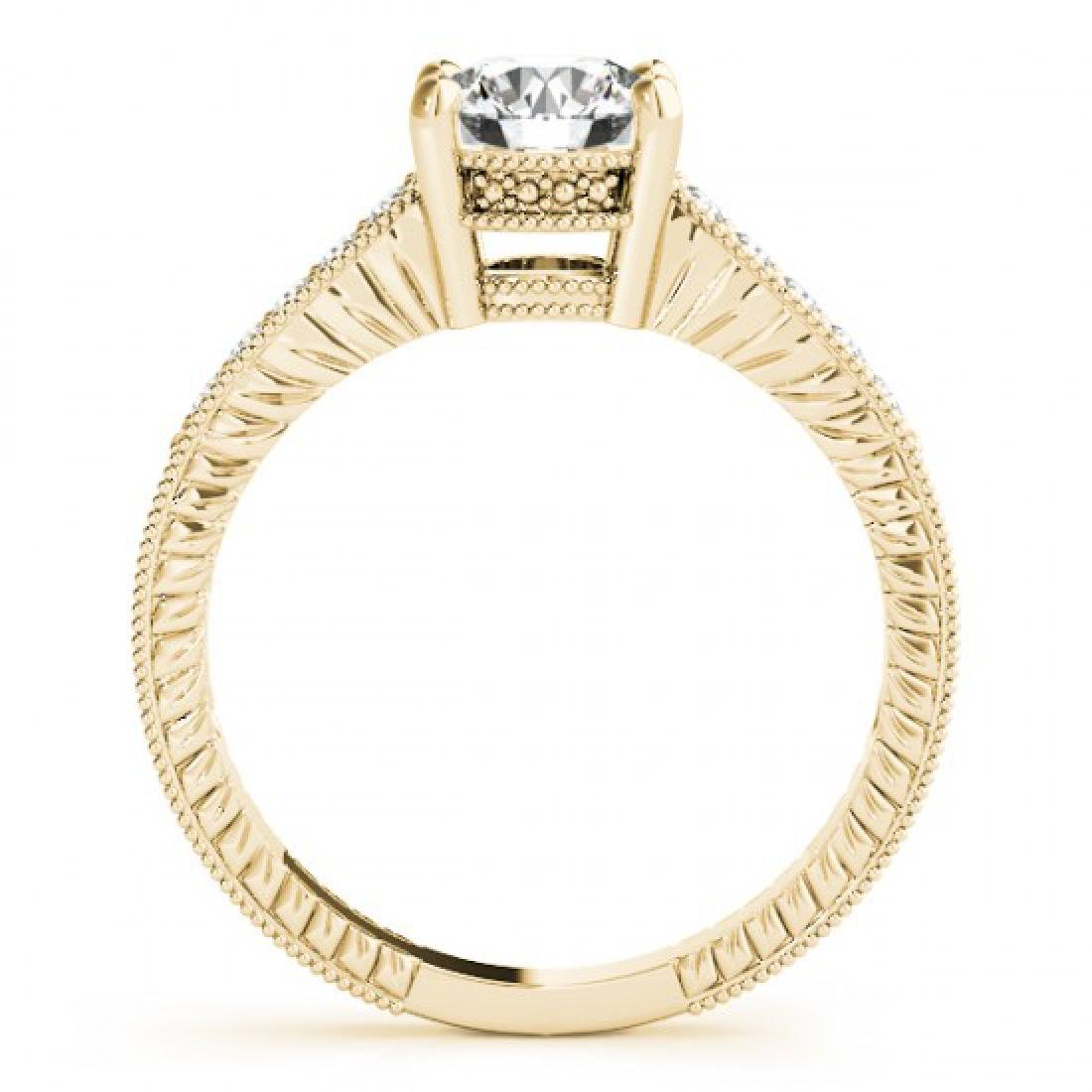 0.97 CTW Certified VS/SI Diamond Solitaire Antique Ring - 2