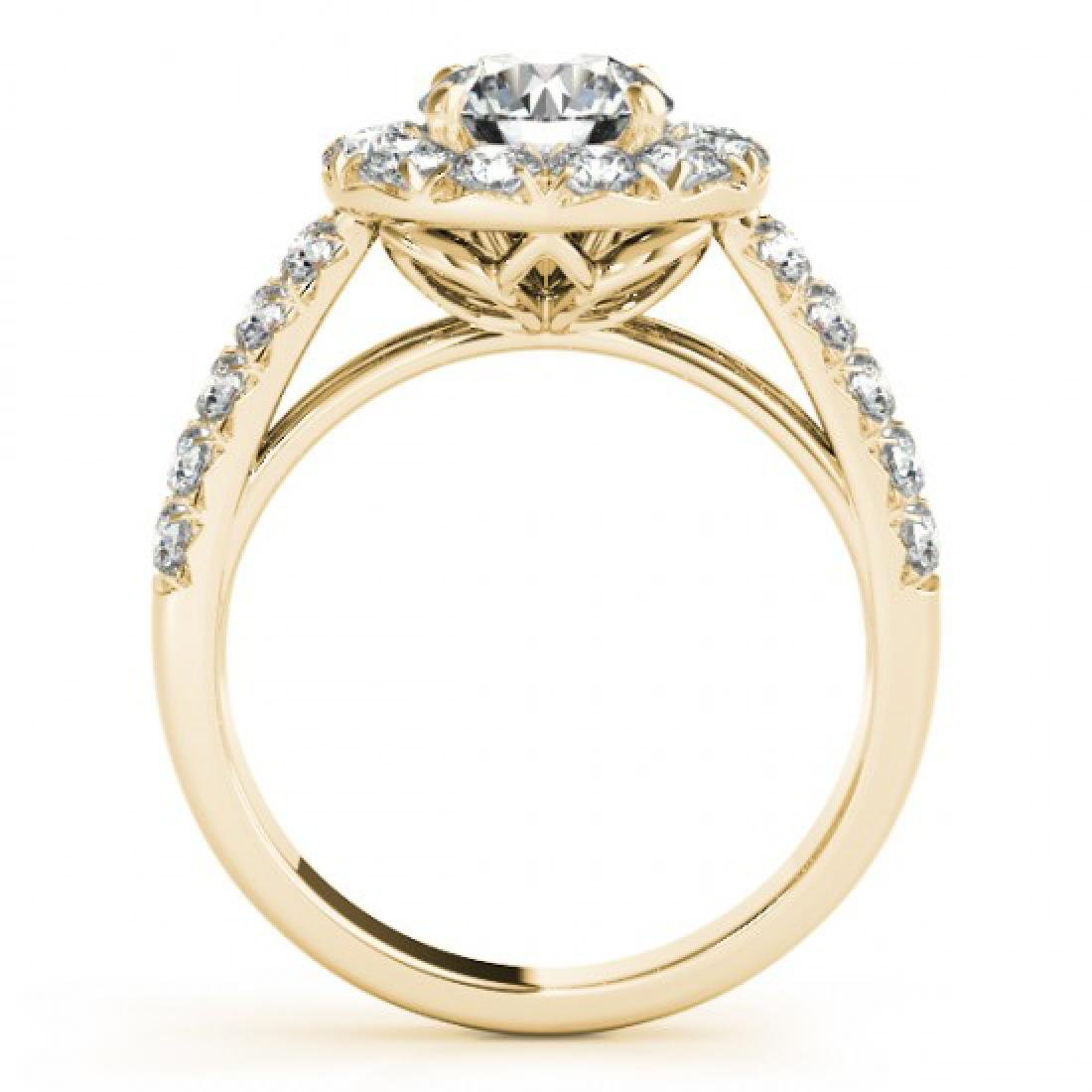 1.52 CTW Certified VS/SI Diamond Solitaire Halo Ring - 2