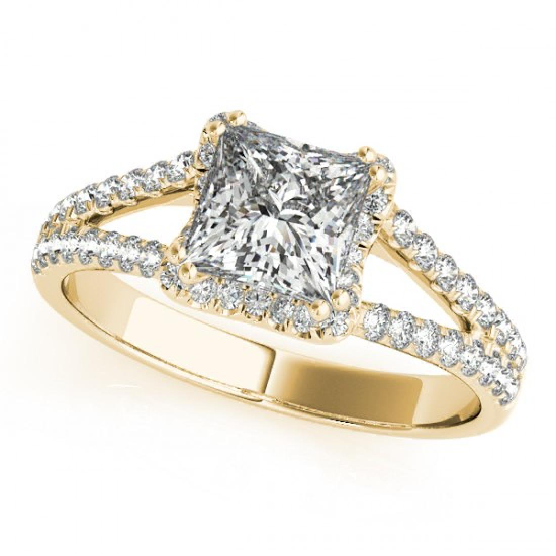 2.05 CTW Certified VS/SI Princess Diamond Solitaire - 2
