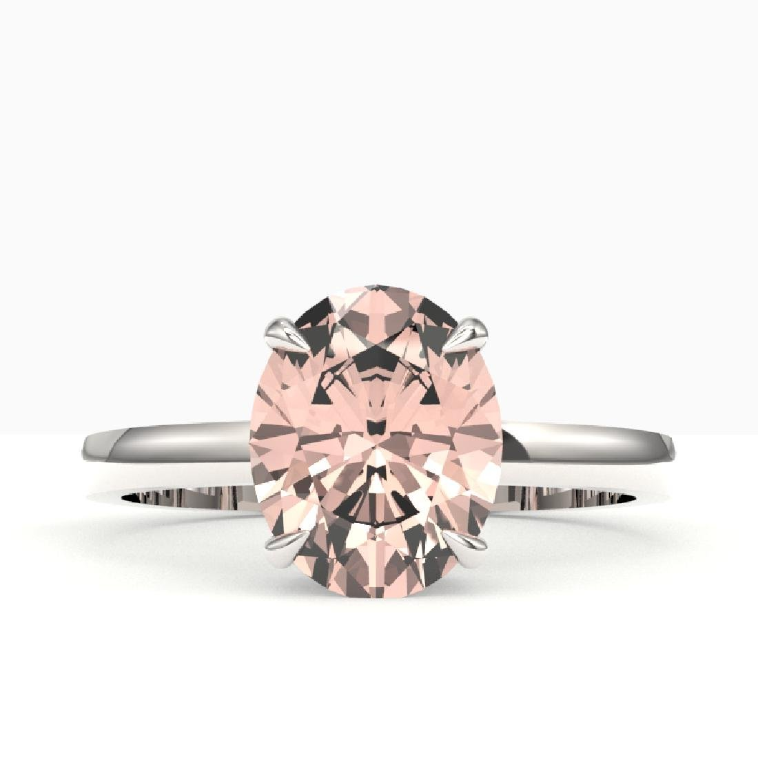2.75 CTW Morganite Designer Inspired Solitaire Ring 18K