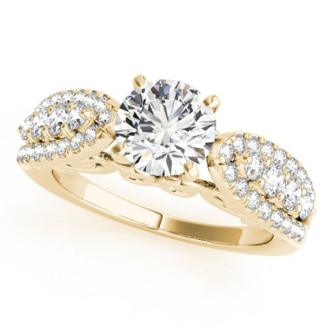 1.7 CTW Certified VS/SI Diamond Solitaire Ring 14K