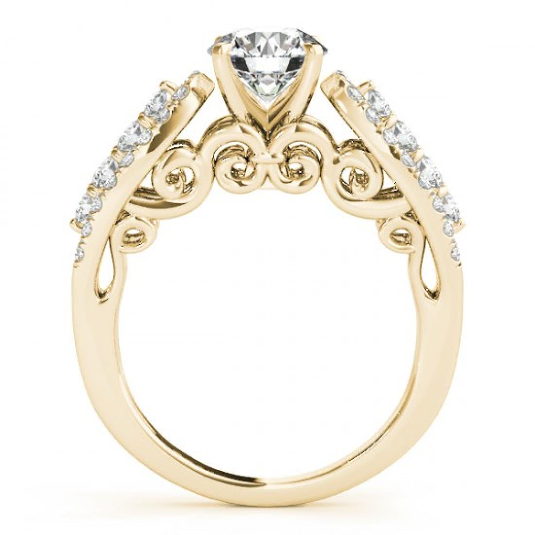 1.7 CTW Certified VS/SI Diamond Solitaire Ring 14K - 2