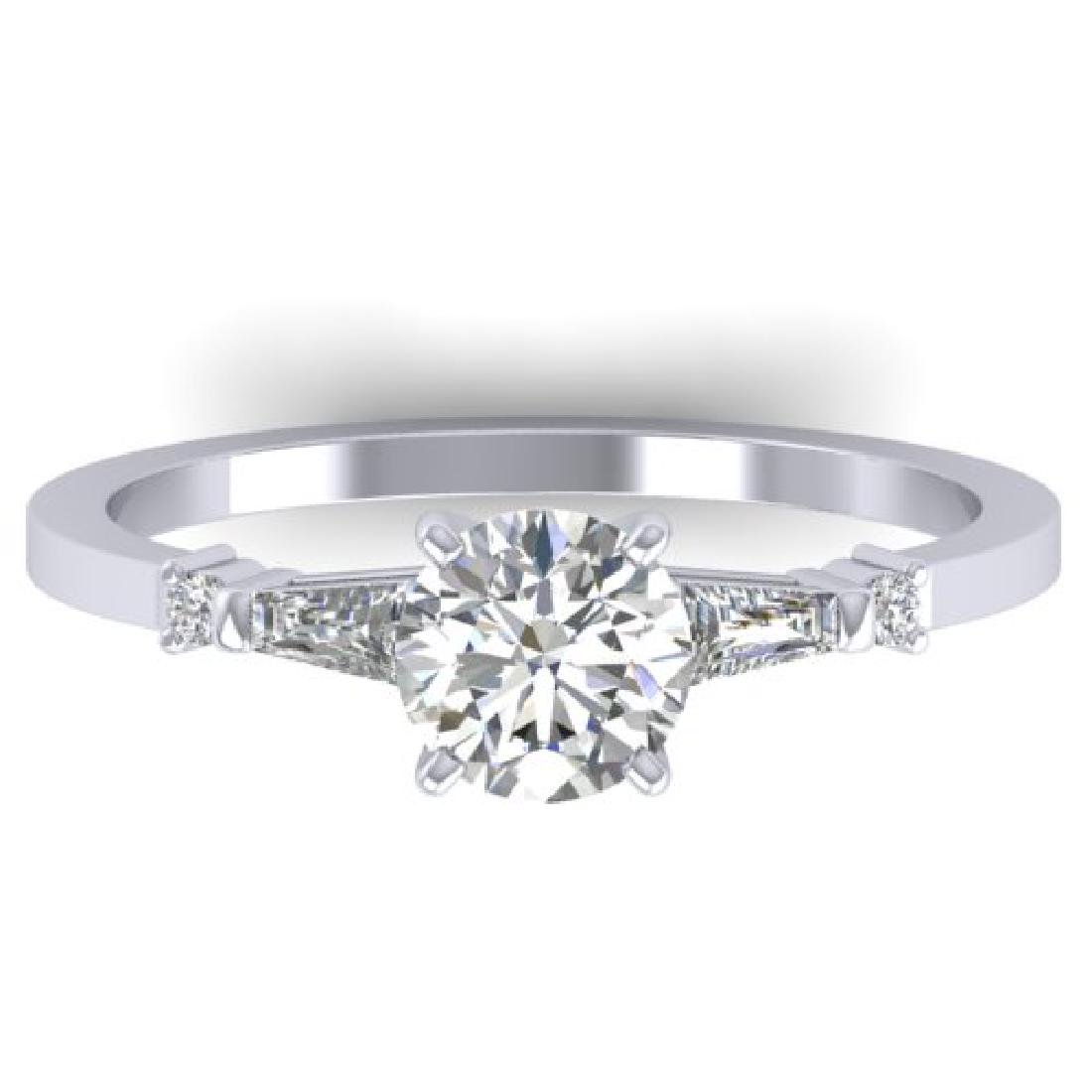 1.04 CTW Certified VS/SI Diamond Solitaire Ring 18K