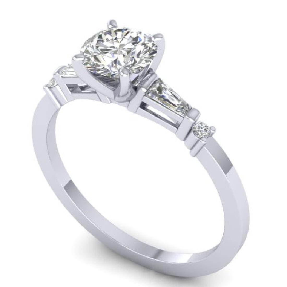 1.04 CTW Certified VS/SI Diamond Solitaire Ring 18K - 2