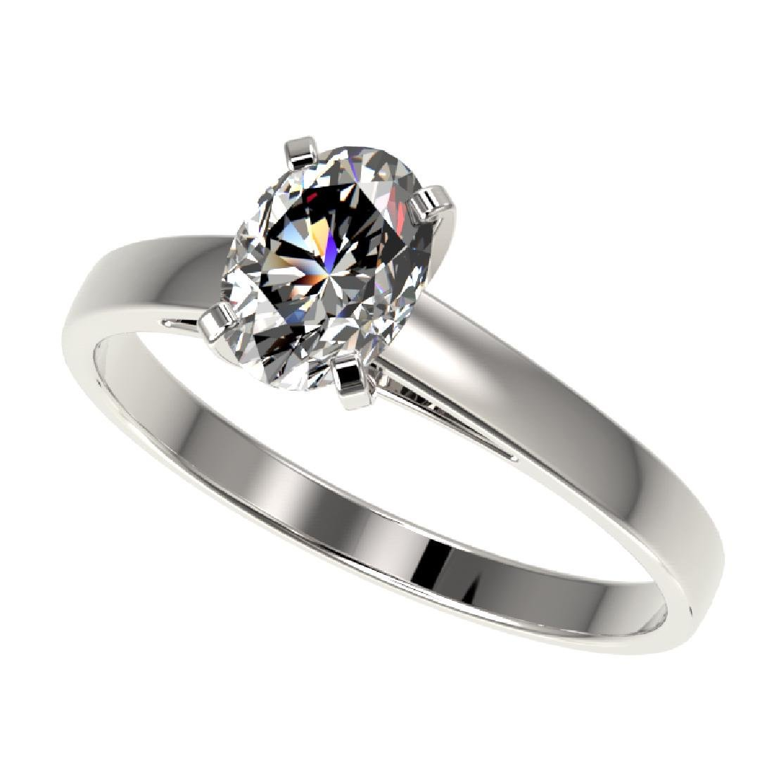 1 CTW Certified VS/SI Quality Oval Diamond Solitaire