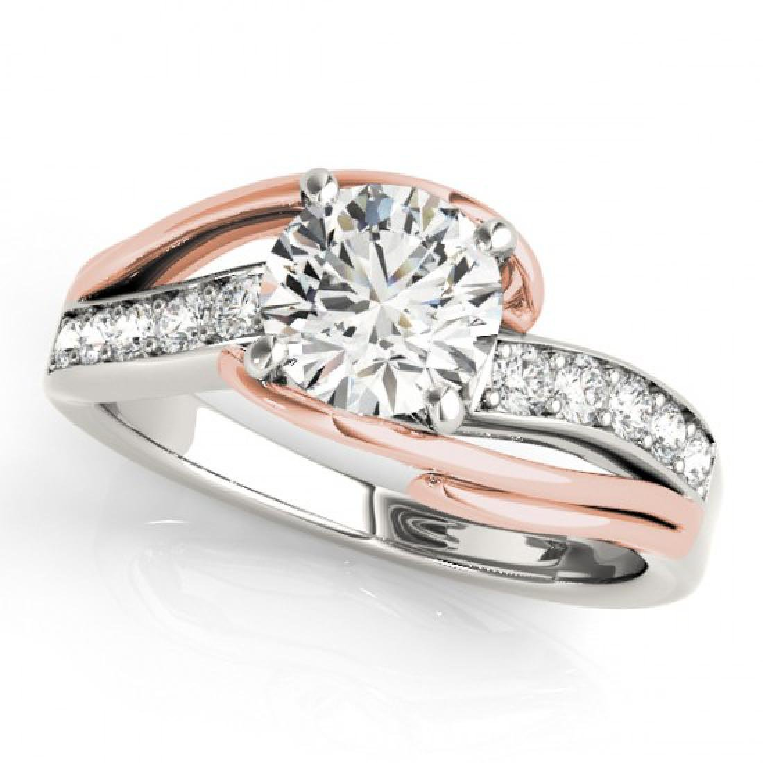 1 CTW Certified VS/SI Diamond Bypass Solitaire Ring 14K