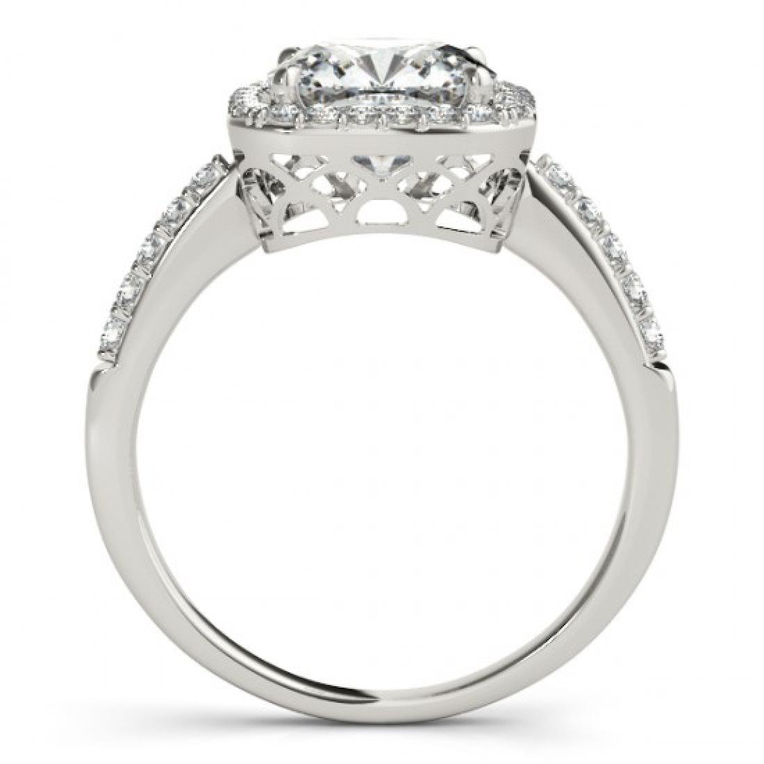0.6 CTW Certified VS/SI Cushion Diamond Solitaire Halo - 2