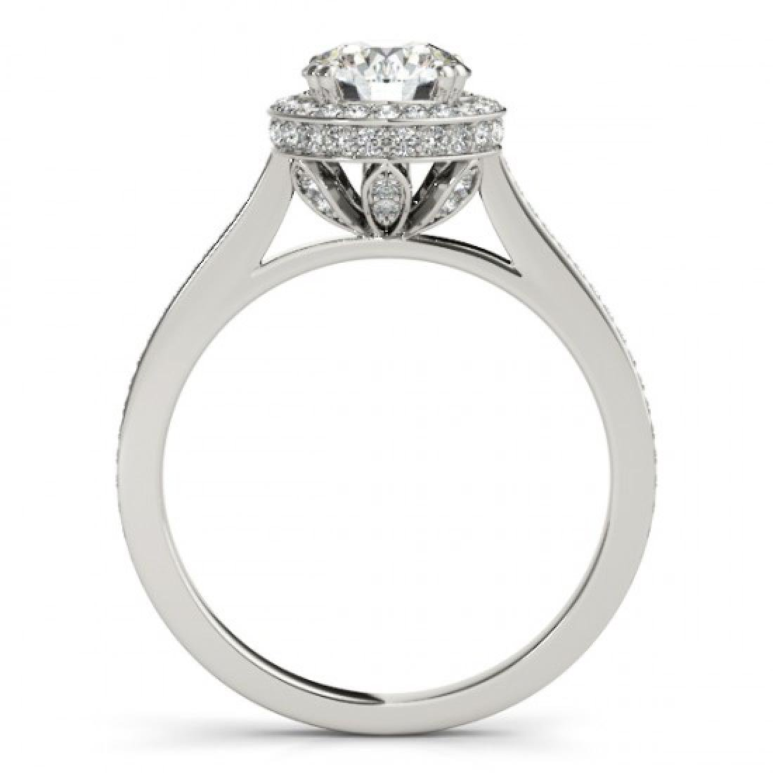 2.03 CTW Certified VS/SI Diamond Solitaire Halo Ring - 2