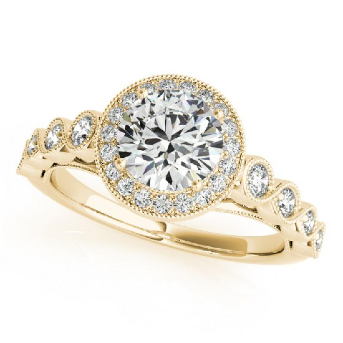 1.05 CTW Certified VS/SI Diamond Solitaire Halo Ring