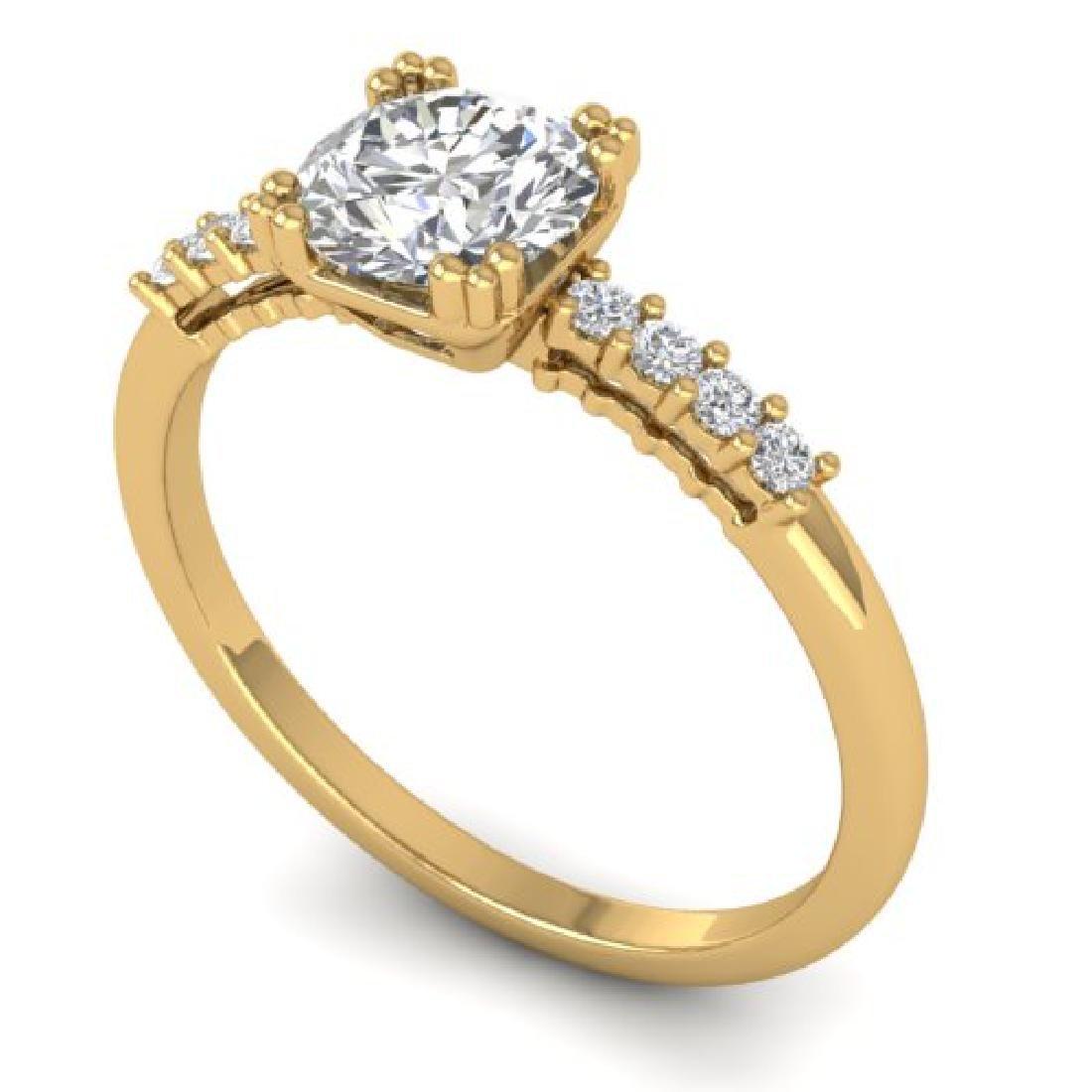 0.93 CTW Certified VS/SI Diamond Solitaire Art Deco - 2