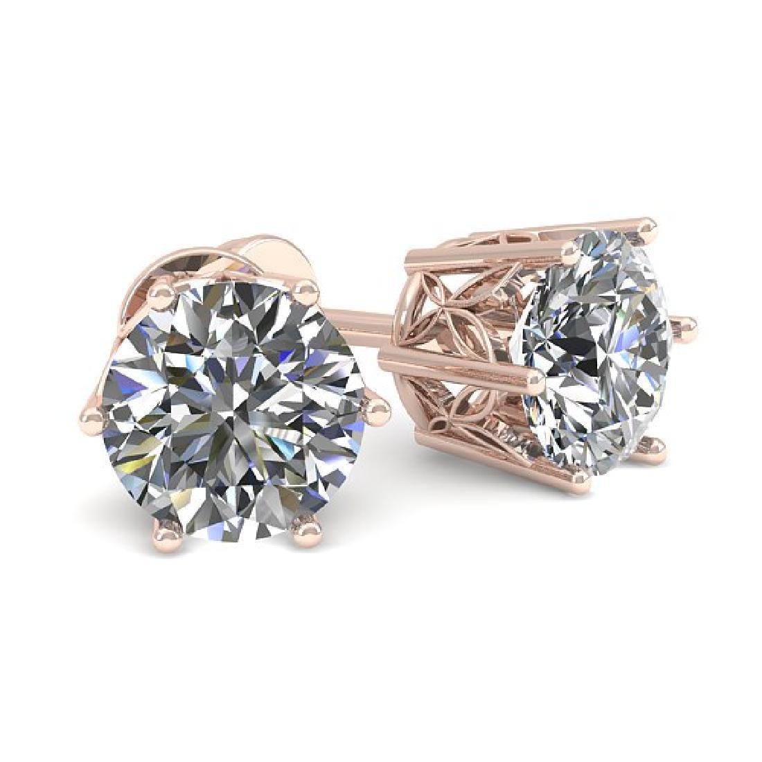 0.50 CTW Certified VS/SI Diamond Stud Art Deco Earrings