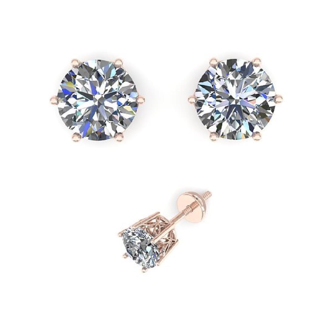 0.50 CTW Certified VS/SI Diamond Stud Art Deco Earrings - 2