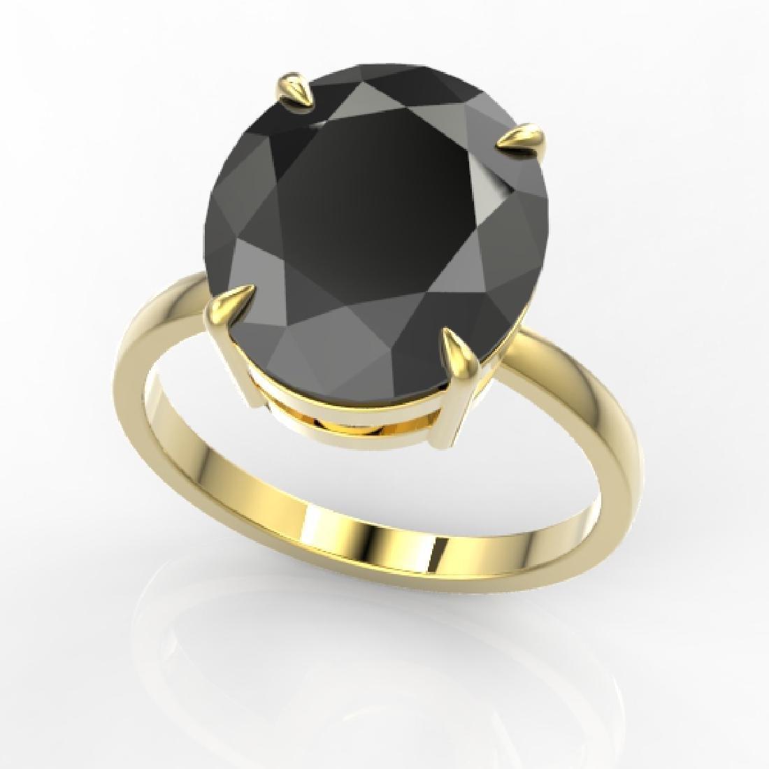 9 CTW Black VS/SI Diamond Designer Engagement Ring 18K - 2