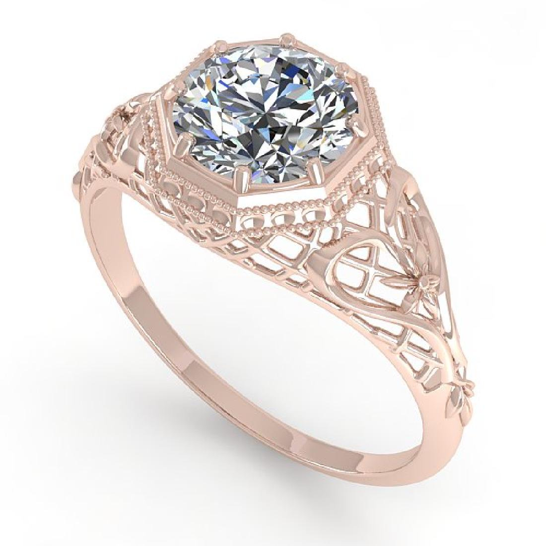 1.50 CTW VS/SI Diamond Solitaire Ring 14K Rose Gold - 2
