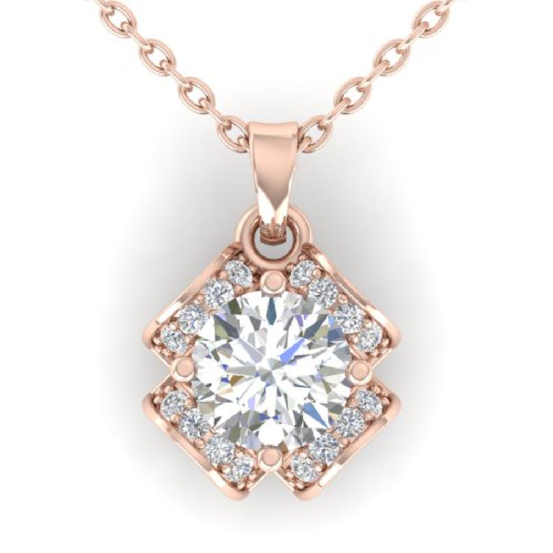 0.95 CTW Certified VS/SI Diamond Art Deco Stud Necklace