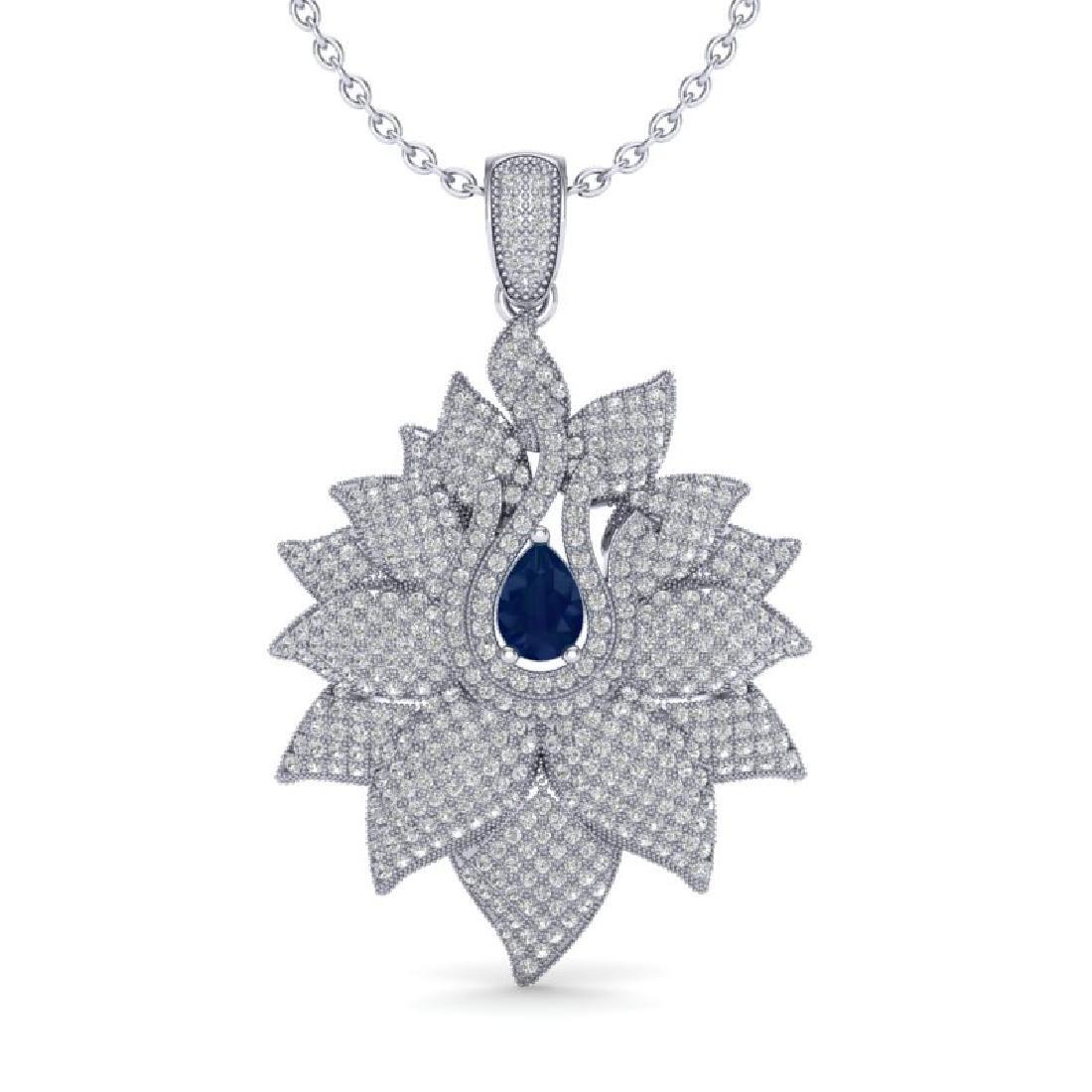 3 CTW Sapphire & Micro Pave VS/SI Diamond Designer - 2