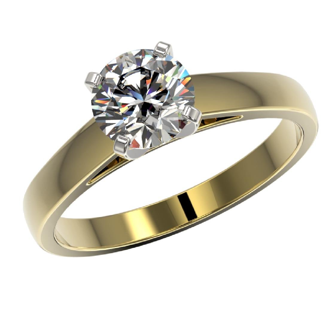 1.26 CTW Certified H-SI/I Quality Diamond Solitaire - 2