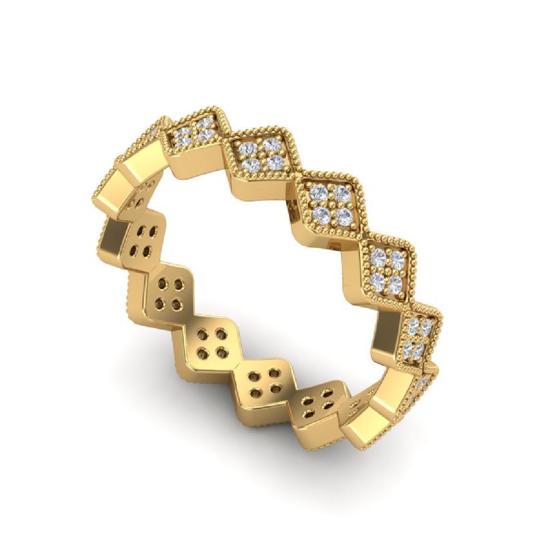 0.42 CTW Eternity Micro Pave VS/SI Diamond Ring