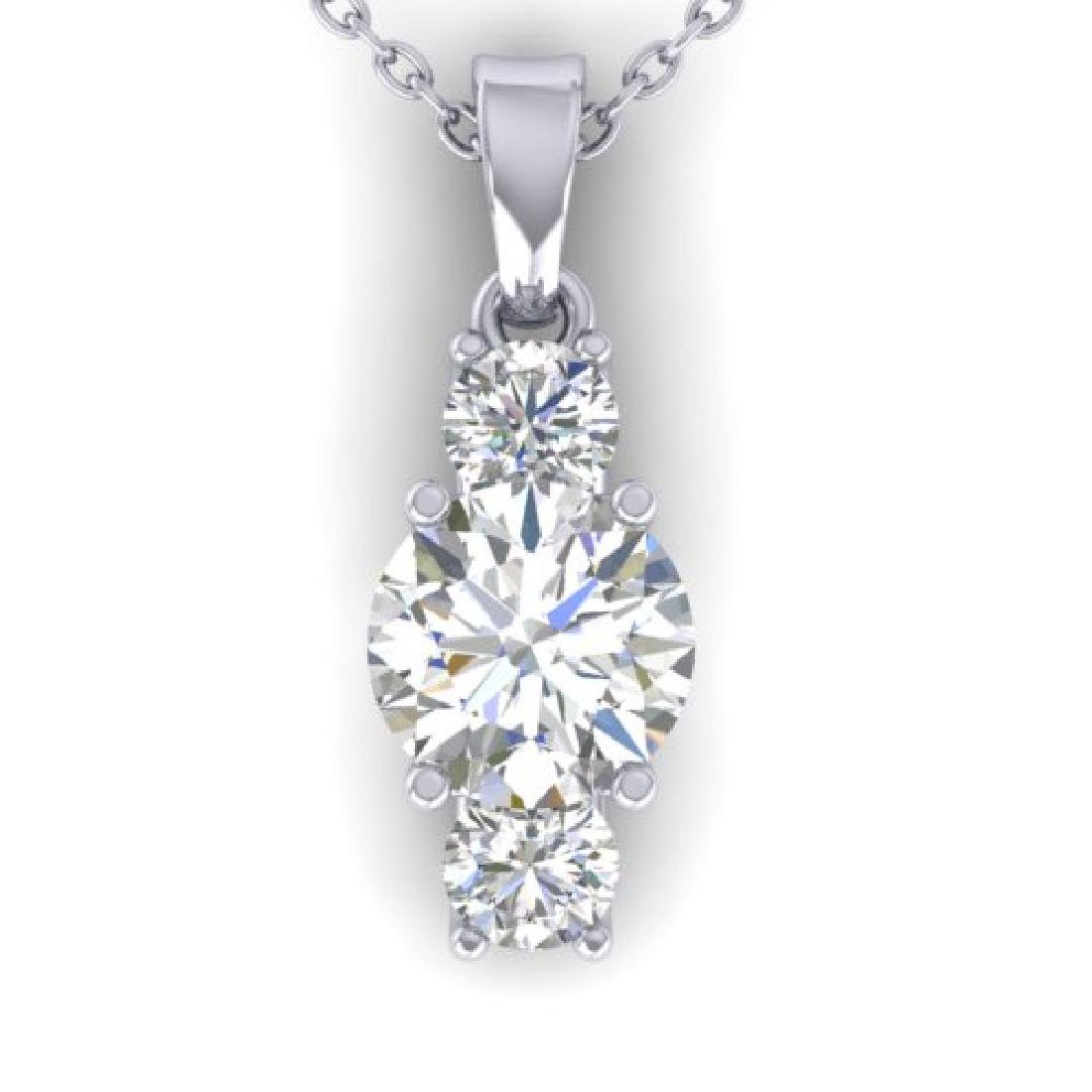 1.5 CTW Certified VS/SI Diamond Art Deco Stud Necklace