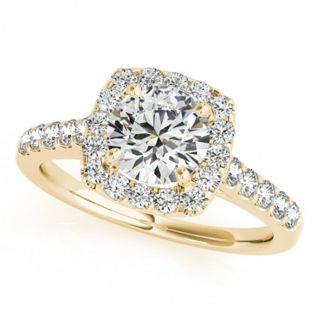 1.35 CTW Certified VS/SI Diamond Solitaire Halo Ring