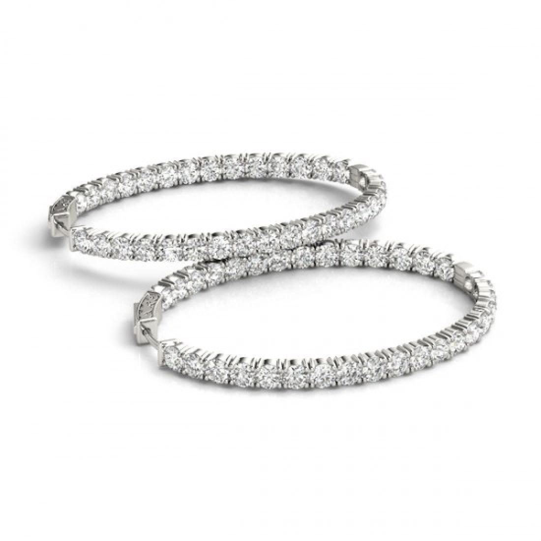 8 CTW Diamond VS/SI Certified 32 Mm Hoop Earrings 14K