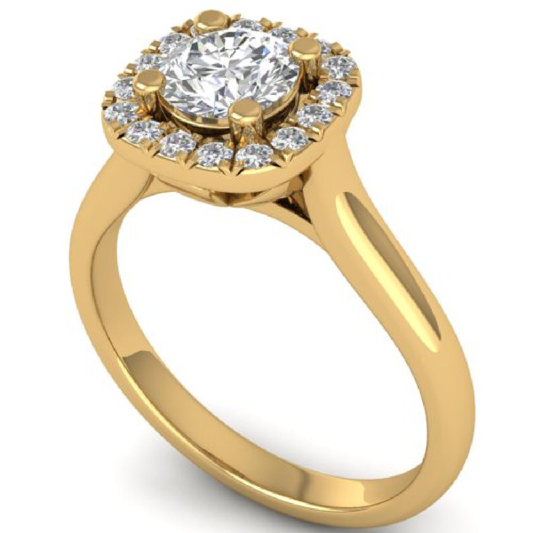 1.01 CTW Certified VS/SI Diamond Solitaire Halo Ring - 2