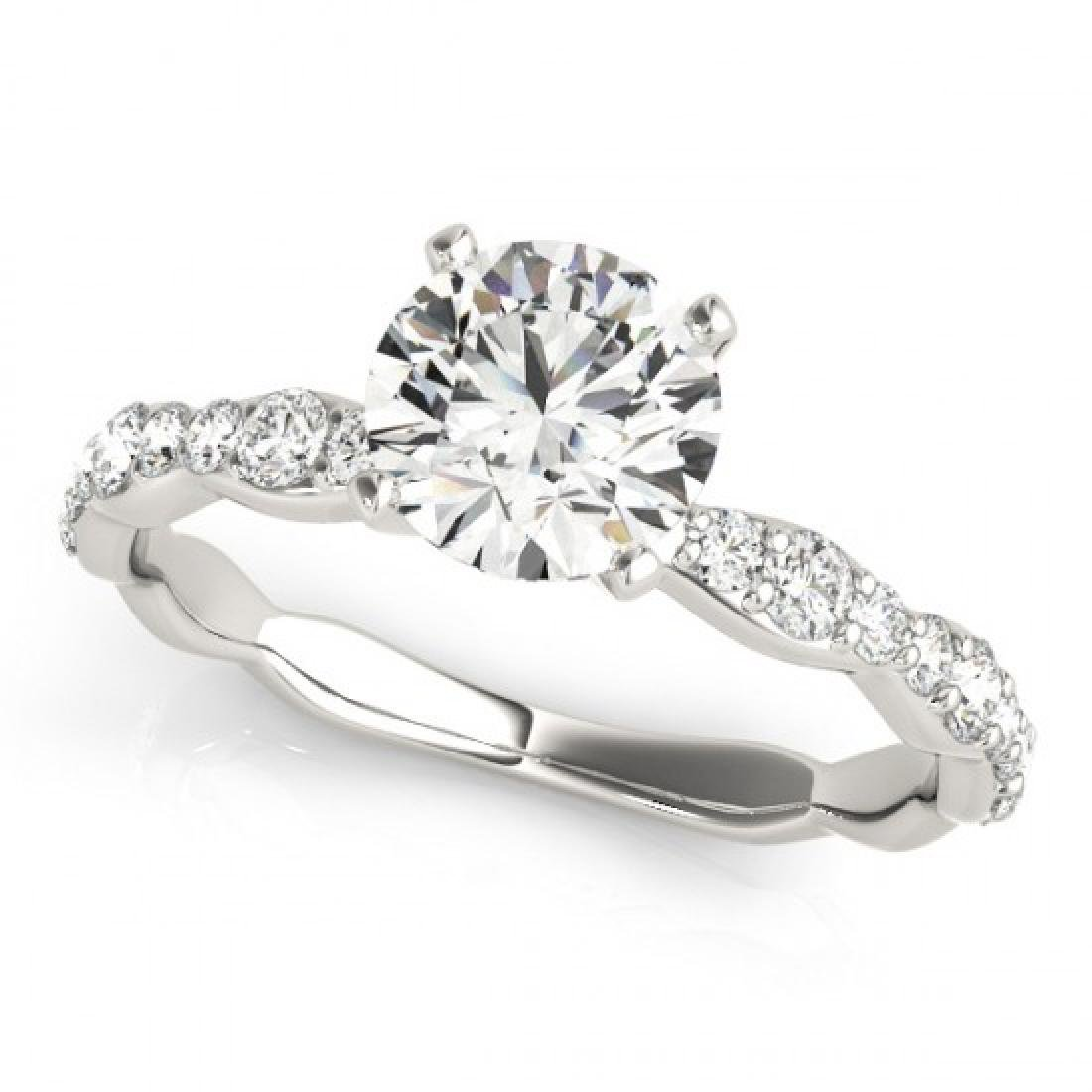 1.4 CTW Certified VS/SI Diamond Solitaire Ring 14K - 2