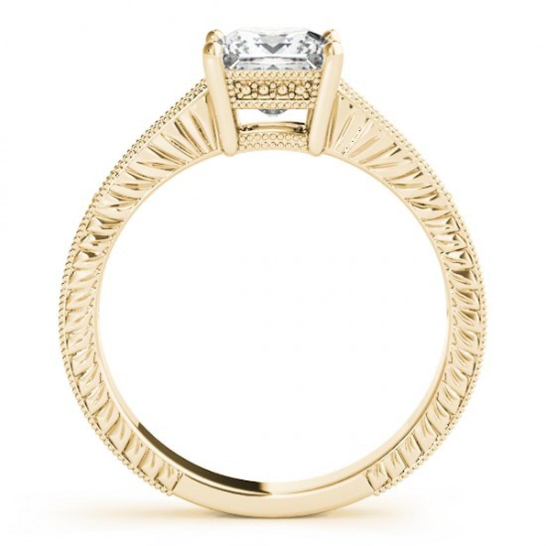 0.65 CTW Certified VS/SI Princess Diamond Solitaire - 2