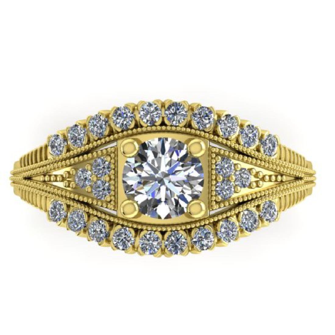 1.50 CTW Solitaire Certified VS/SI Diamond Ring 18K