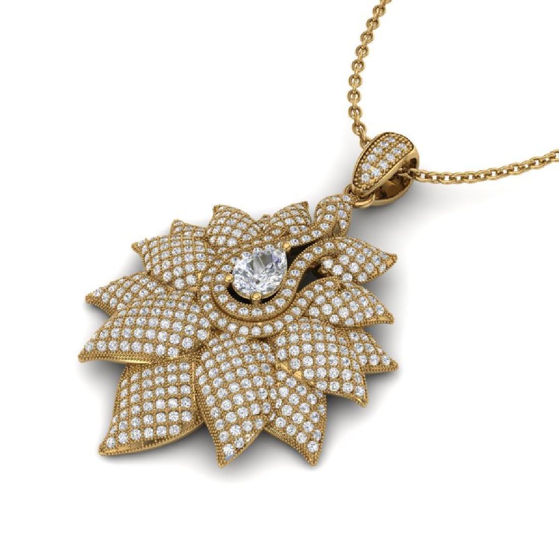 3 CTW Micro Pave VS/SI Diamond Designer Necklace 18K