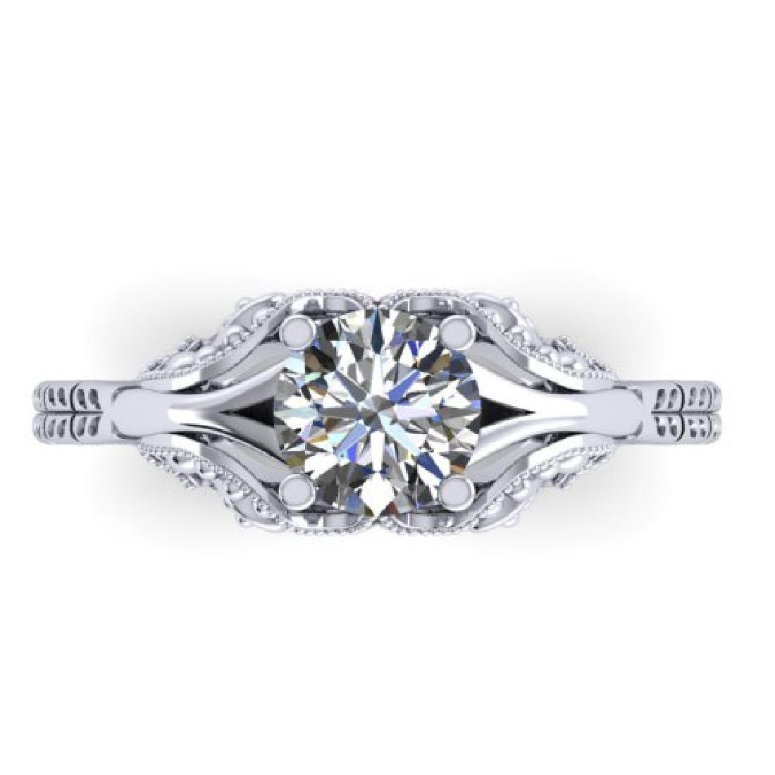1 CTW Solitaire Certified VS/SI Diamond Ring 18K White