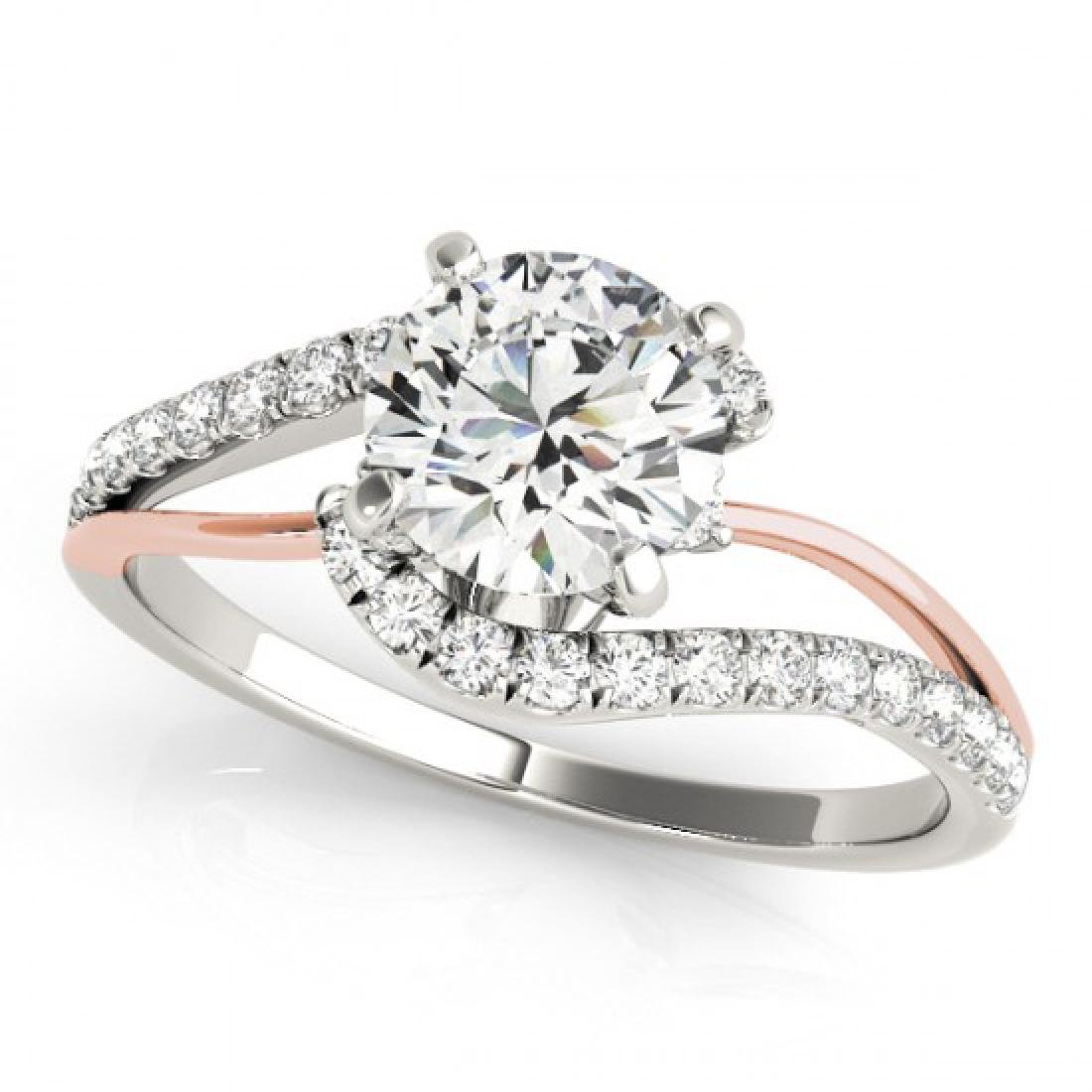 0.85 CTW Certified VS/SI Diamond Bypass Solitaire Ring