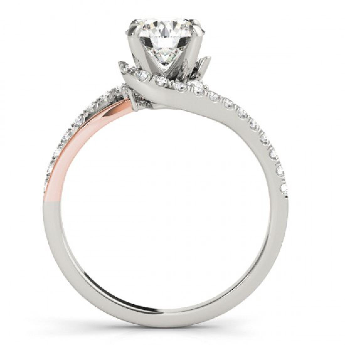 0.85 CTW Certified VS/SI Diamond Bypass Solitaire Ring - 2