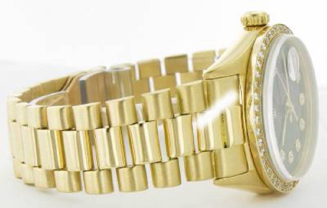 Rolex Men's 18K Yellow President, QuickSet, Diamond - 3