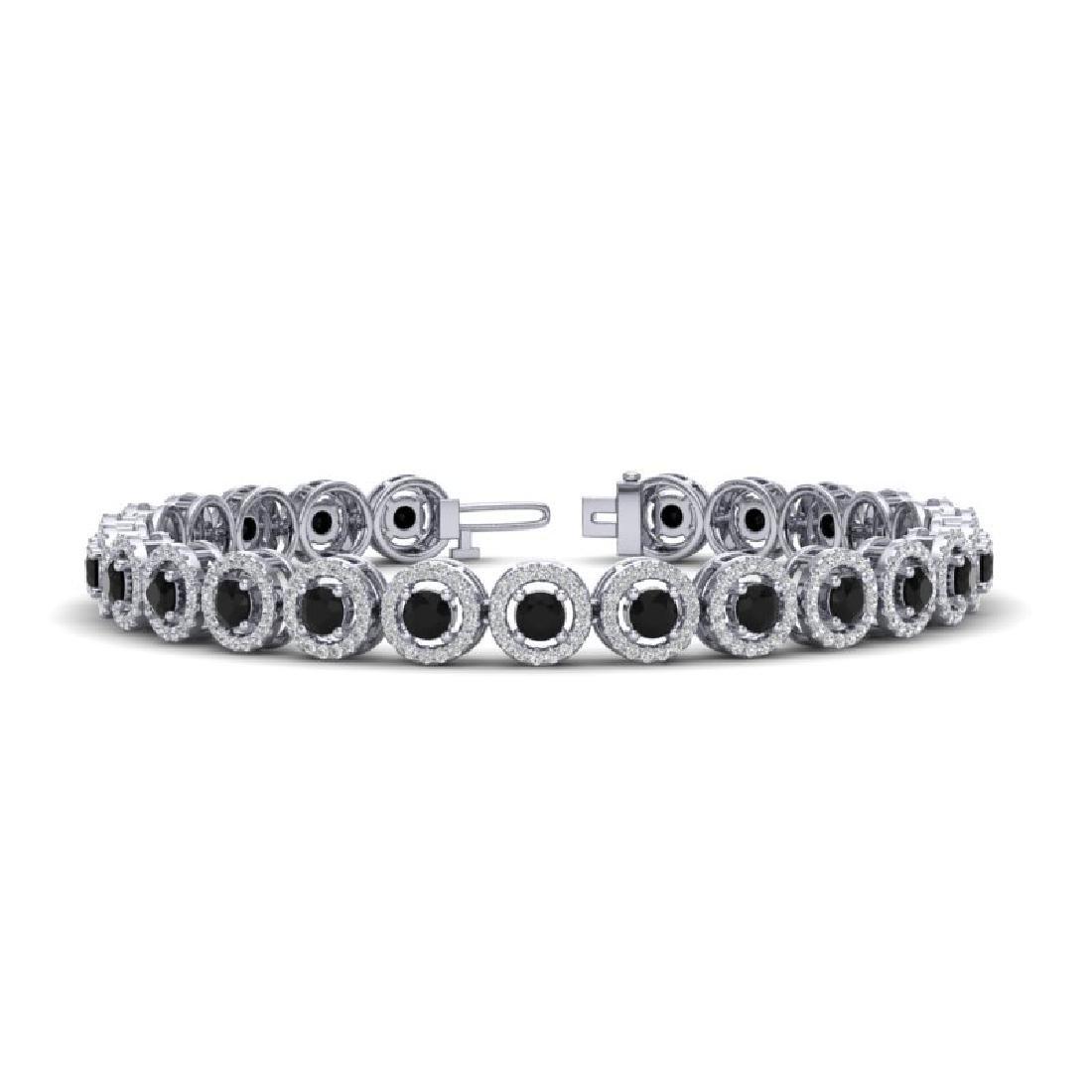 8.75 CTW Micro Pave VS/SI Diamond Bracelet Solitaire