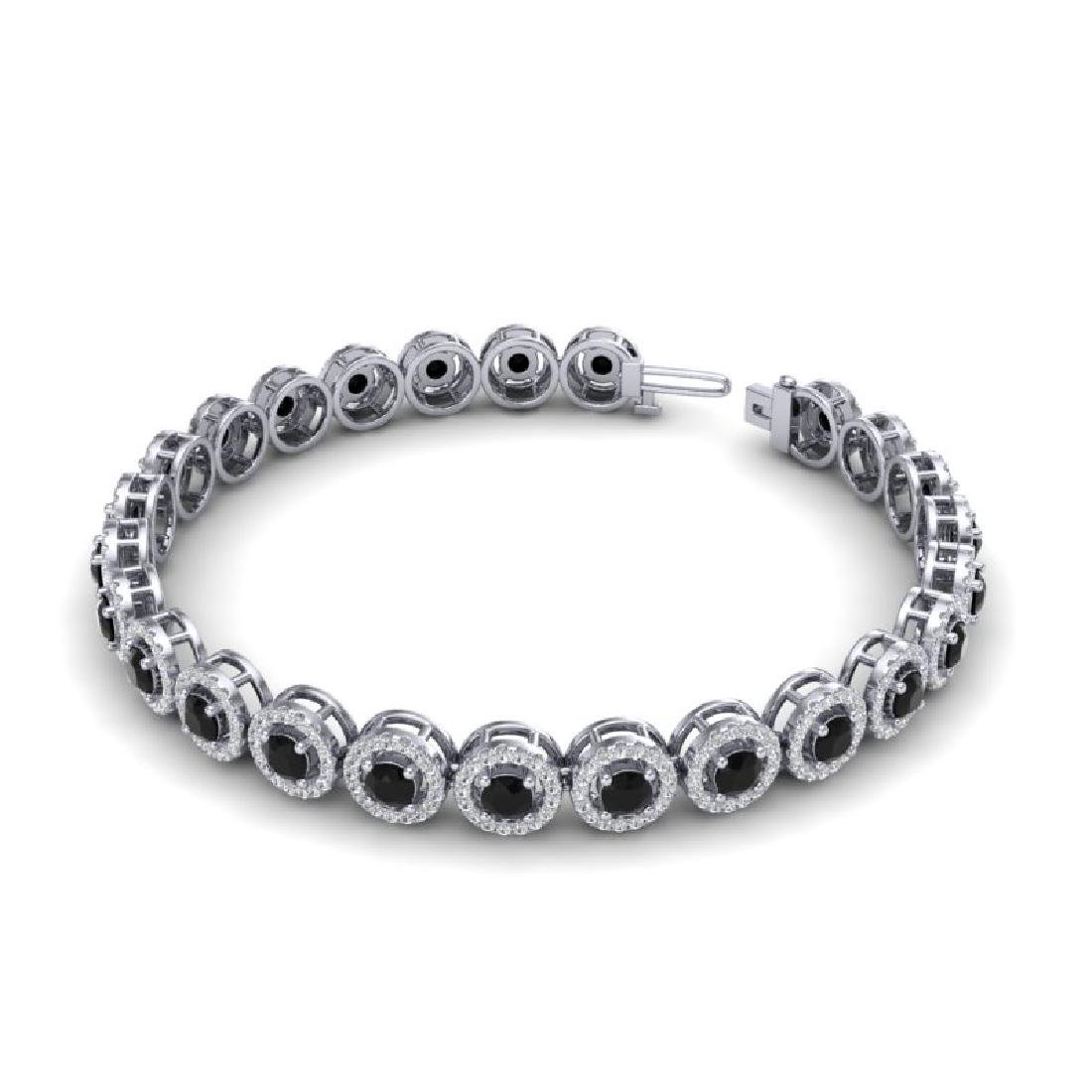 8.75 CTW Micro Pave VS/SI Diamond Bracelet Solitaire - 2
