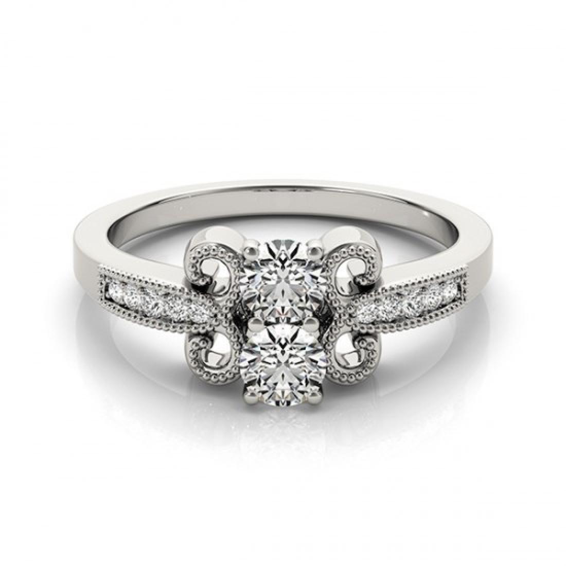 0.81 CTW Certified VS/SI Diamond 2 Stone 2 Stone Ring