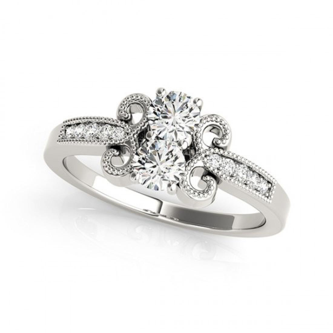 0.81 CTW Certified VS/SI Diamond 2 Stone 2 Stone Ring - 2