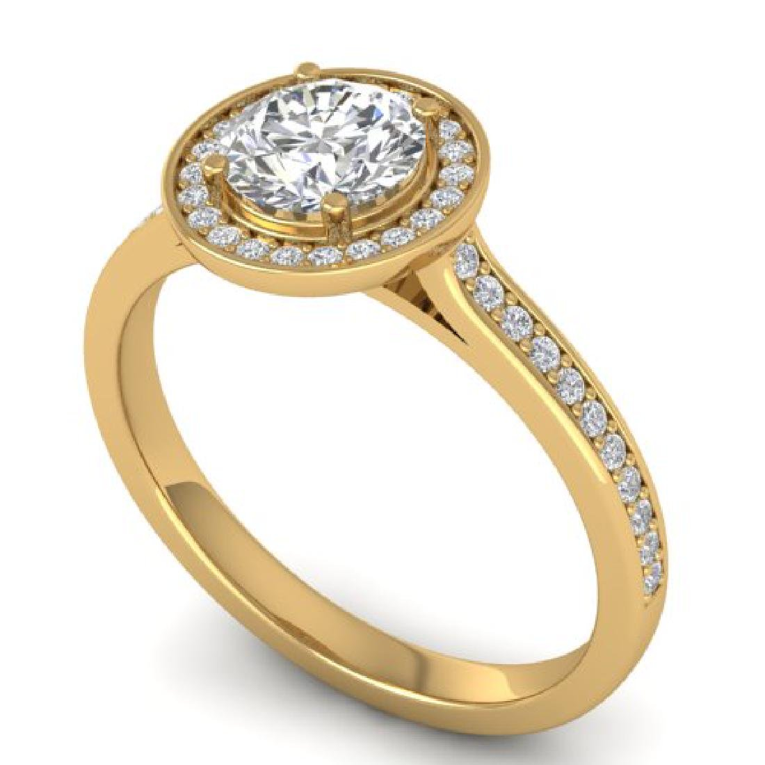 1.1 CTW Certified VS/SI Diamond Solitaire Micro Halo - 2