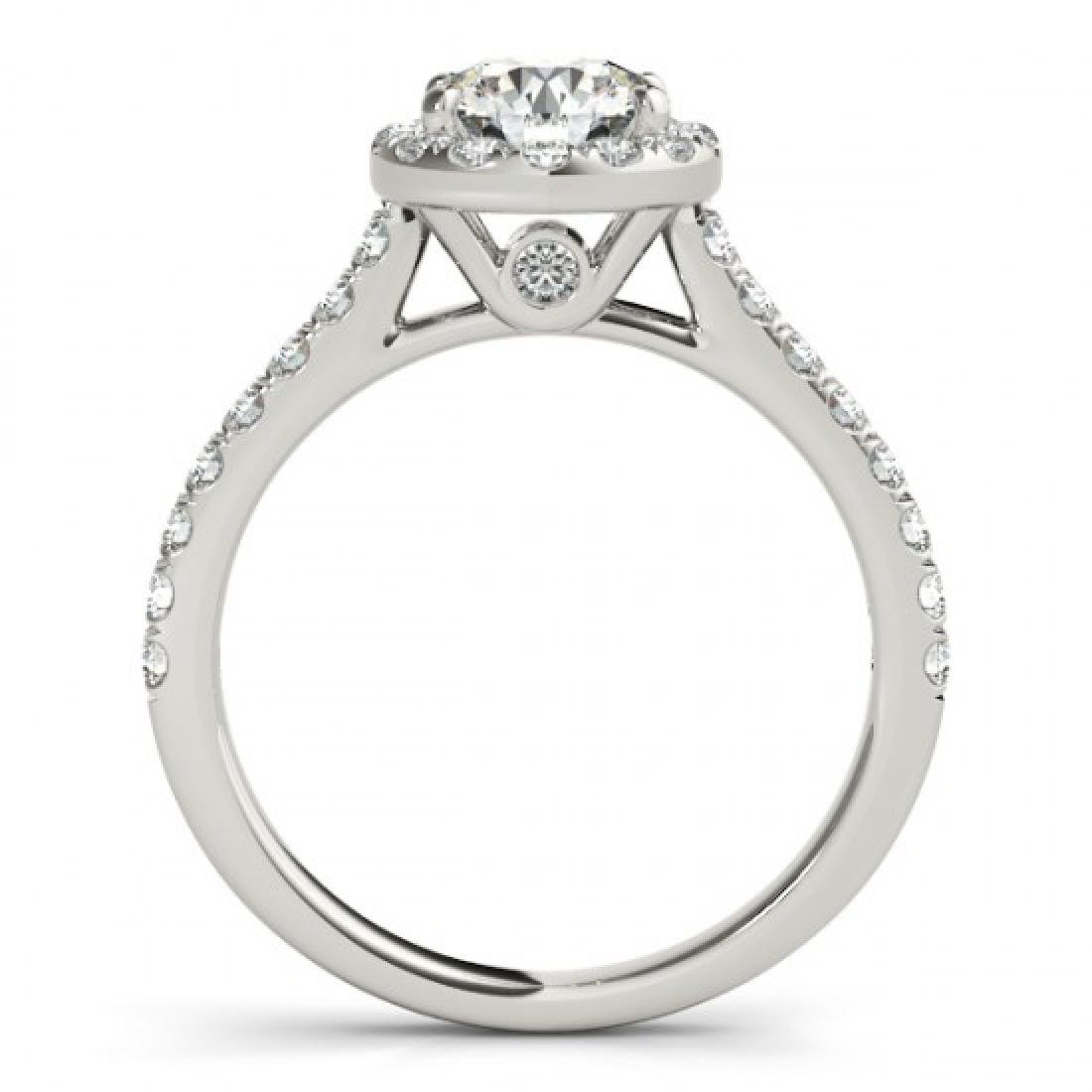 1.7 CTW Certified VS/SI Diamond Solitaire Halo Ring 14K - 2