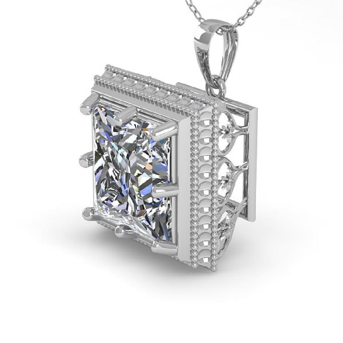 1 CTW VS/SI Princess Diamond Solitaire Necklace 14K