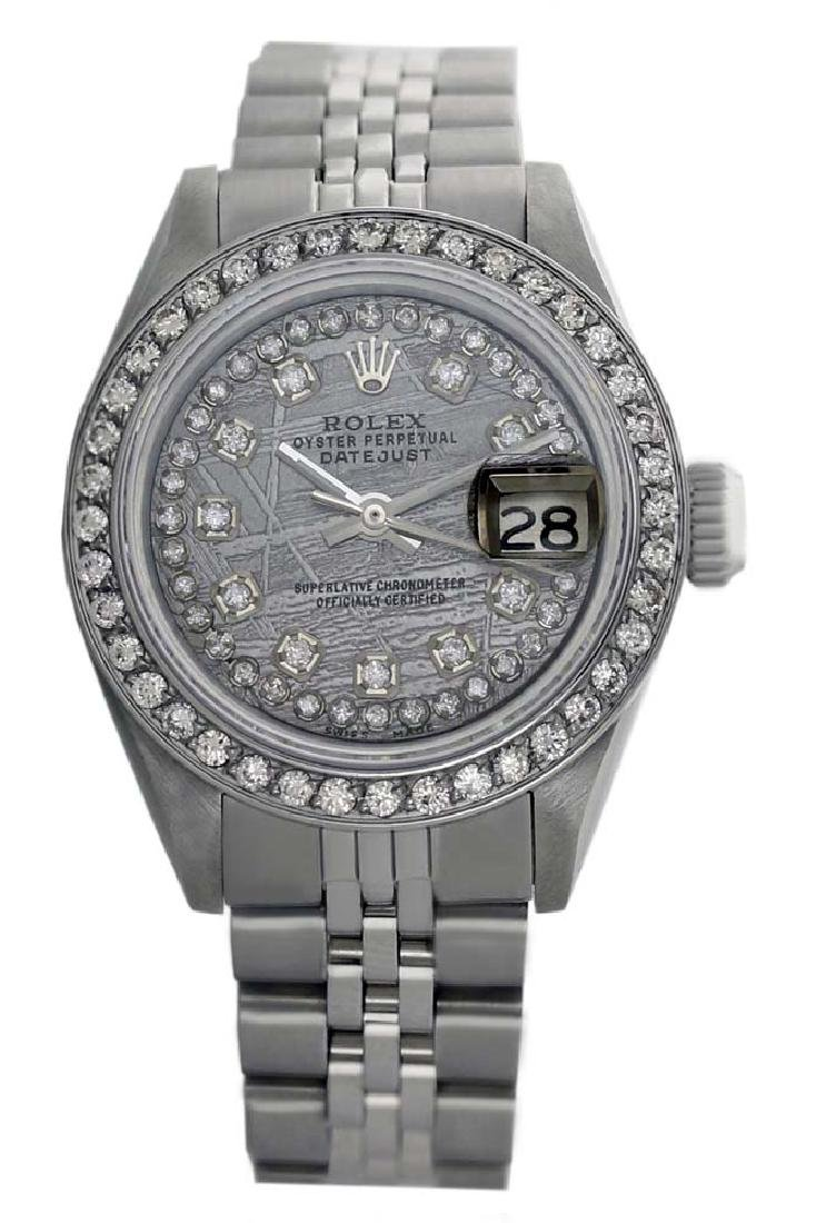 Rolex Ladies Stainless Steel, Diamond Dial & Diamond - 2